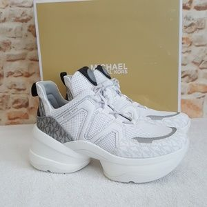 New Michael Kors Olympia Trainer  Sneakers